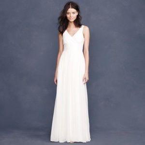 J.Crew Sophia long wedding gown in silk tr…
